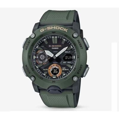 カシオ 腕時計 Casio G-Shock GA-2000-3AER Carbon Core コア Guard IN Green Khaki And Black