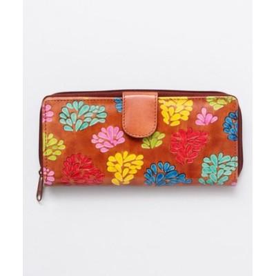 【チャイハネ】インド伝統山羊革細工 サンティニウォレット 長財布