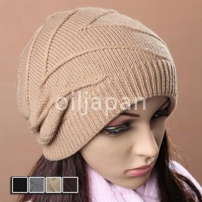 ニット帽 帽子 ぼうし ニットキャップ 伸縮性 小顔効果 ワッチ ニットビーニー おしゃれ デザイン 防寒 レディース メンズ