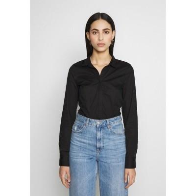 オンリー トール シャツ レディース トップス ONLSELMA BODY - Button-down blouse - black