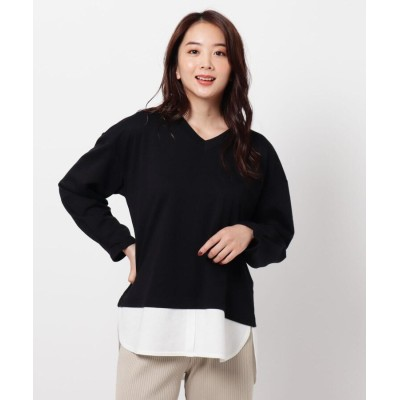THE SHOP TK(Women)(ザ ショップ ティーケー(ウィメン)) 裾レイヤード風カットプルオーバー