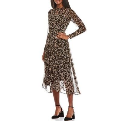 トミー ヒルフィガー レディース ワンピース トップス 3/4 Sleeve High-Low Petal Party Dress