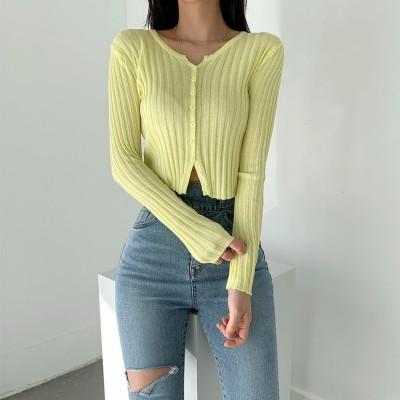 ✨DRESSCAFE✨[韓国ファッション]   Limited item!  (4color) 春夏リンネカーディガン