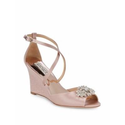 バッジリーミシュカ レディース シューズ サンダル Abigail Embellished Satin Ankle Strap Sandals