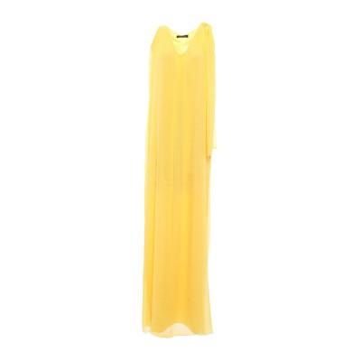 ALESSANDRO LEGORA ロングワンピース&ドレス イエロー M ポリエステル 66% / ナイロン 34% ロングワンピース&ドレス