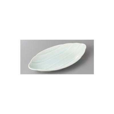 (業務用・楕円皿)青白磁波彫楕円皿(入数:5)