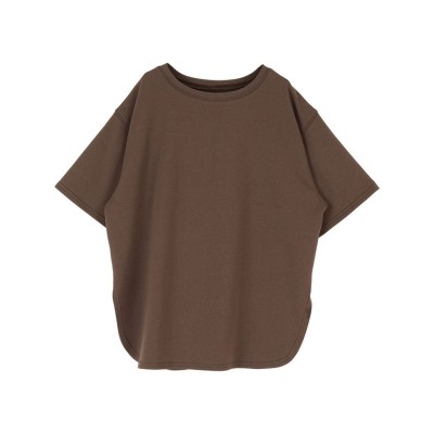 ティティベイト titivate カットソービッグシルエットTシャツ (ブラウン)