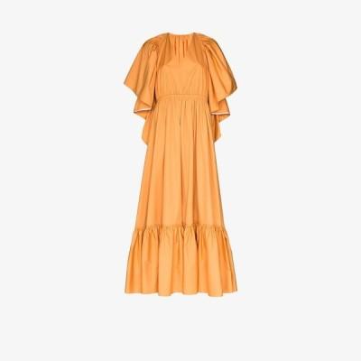 ロクサンダ Roksanda レディース パーティードレス ワンピース・ドレス cutout back ruffled cotton gown neutrals
