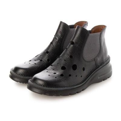 ユリコ マツモト yuriko matsumoto サマーブーツ ブーツ 本革 日本製 軽量底 4E 歩きやすい (BL)