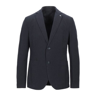LIU •JO MAN テーラードジャケット ダークブルー 50 コットン 76% / リネン 24% テーラードジャケット