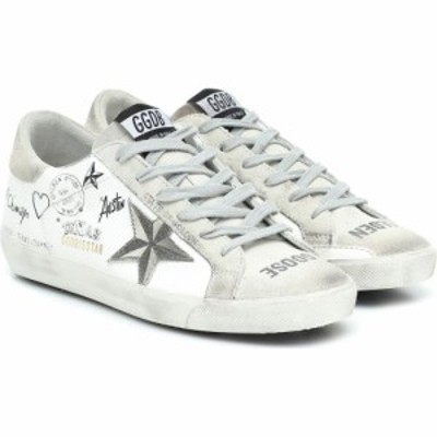 ゴールデン グース Golden Goose レディース スニーカー シューズ・靴 Superstar leather sneakers White Leather-Ice Suede Star-T