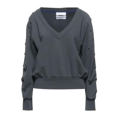 BRAND UNIQUE スウェットシャツ 鉛色 2 コットン 100% スウェットシャツ