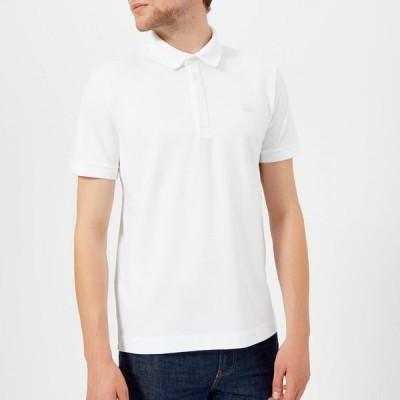 ラコステ Lacoste メンズ ポロシャツ 半袖 トップス Short Sleeve Paris Polo Shirt - White White