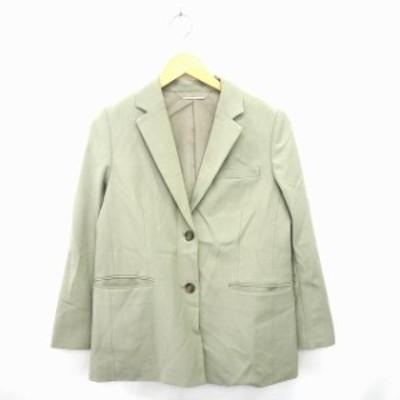【中古】ミラオーウェン Mila Owen ジャケット アウター テーラード 無地 ノッチドラペル 長袖 0 ライトグリーン 黄緑