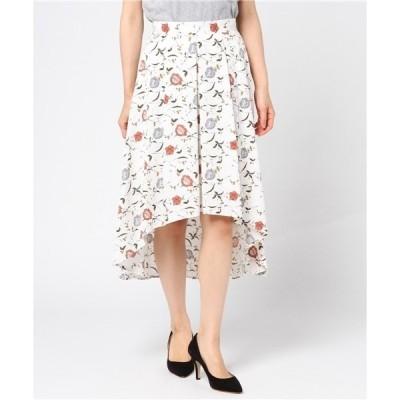 花柄タックイレヘムスカート