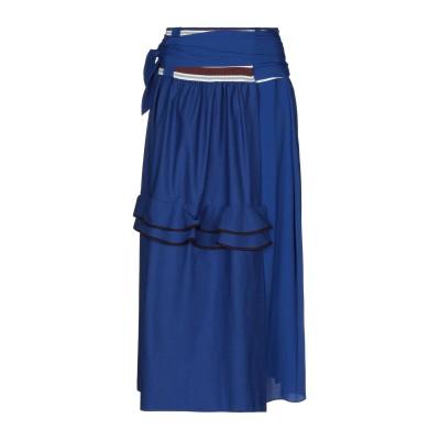 マルニ MARNI 7分丈スカート ブライトブルー 42 コットン 46% / アセテート 37% / シルク 17% 7分丈スカート