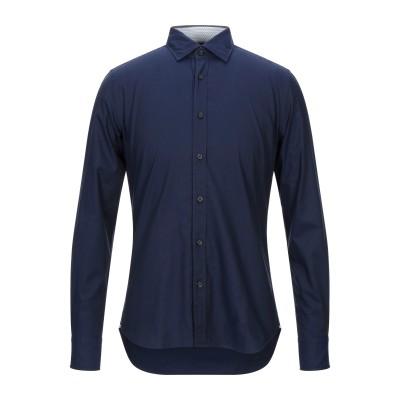 XACUS シャツ ダークブルー 38 コットン 96% / ポリウレタン 4% シャツ