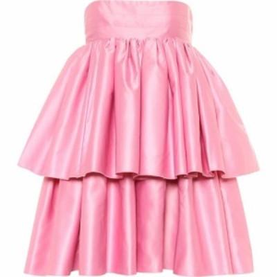 ローテート ROTATE BIRGER CHRISTENSEN レディース パーティードレス ワンピース・ドレス carmina satin strapless minidress Prism Pink
