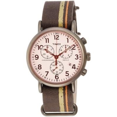 TW2P78000 TIMEX タイメックス 国内正規品 ウィークエンダークロノ レザーストライプ メンズ腕時計