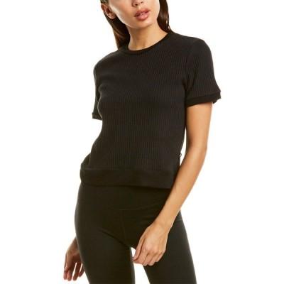 テレズ Tシャツ トップス レディース Terez Ribbed T-Shirt black