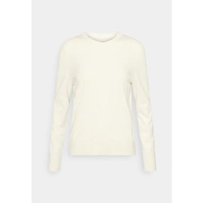 マルコポーロ レディース ファッション LONGSLEEVE ROUND NECK - Jumper - raw cream