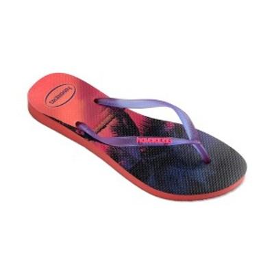 ハワイアナス レディース サンダル シューズ Slim Paisage Flip-Flop Sandals Coral New