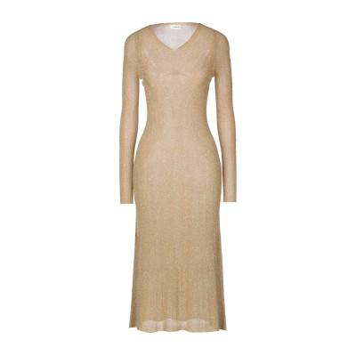 ランバン LANVIN ロングワンピース&ドレス ゴールド M ポリエステル 50% / ナイロン 50% ロングワンピース&ドレス