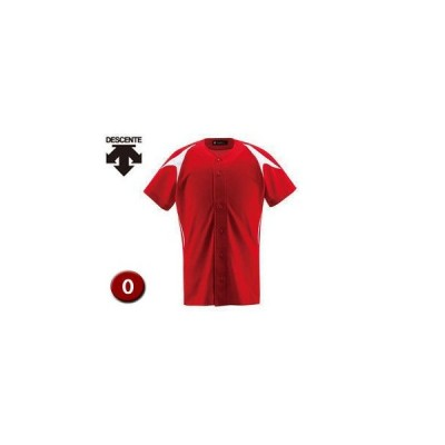 DESCENTE/デサント  DB1013-RDSW ユニフォームシャツ カラーコンビネーション(フルオープン) 【O】 (レッド×Sホワイト)