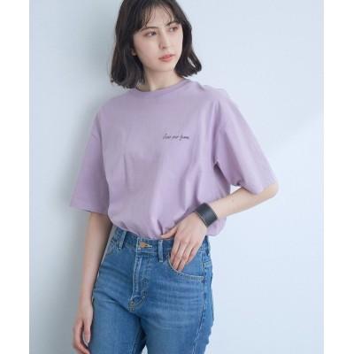 【ビス】 バックプリントBIG Tシャツ レディース パープル系 M ViS