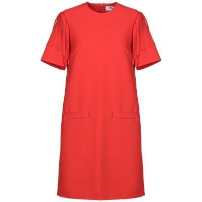 エムエスジーエム MSGM ミニワンピース&ドレス レッド 42 ポリエステル 84% / レーヨン 10% / ポリウレタン 6% ミニワンピース