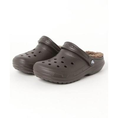 サンダル crocs クロックス classic lined clog 203591-23B espresso/walnut