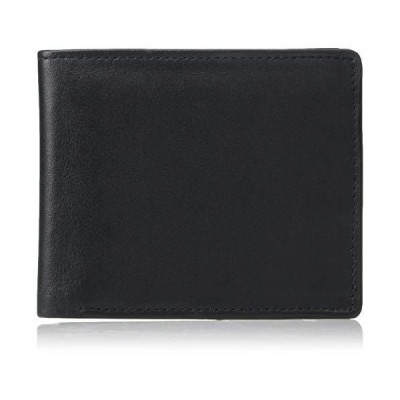 Royce Leather Men's Bifold Wallet in Leather with Double Id Flap, Black, One Size