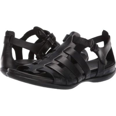 エコー ECCO レディース サンダル・ミュール シューズ・靴 Flash Strappy Sandal Black Cow Nubuck