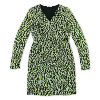 バースリー ワンピース トップス レディース Ruched Vibrant Print Dress, Created for Macy's Houndstooth Swirl