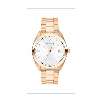 Movado Men's Heritage Rose Gold Watch with a Printed Index Dial, Pink/Gold/White (Model 3650058)並行輸入品