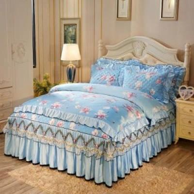高級ワイドダブル ベッド用品4点セット .寝具 ボックスシーツ 枕カバー掛け布団カバー ベッドパッド 別サイズあり敷き布団カバー