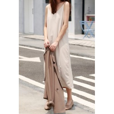 キャミソール イブニング ロング ドレス #0592