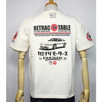 カミナリモータース KAMINARI(カミナリ) 雷 エフ商会 旧車『初代スープラ RETRAC TABLE70』半袖Tシャツ KMT-200【ホワイト】(2278)新品