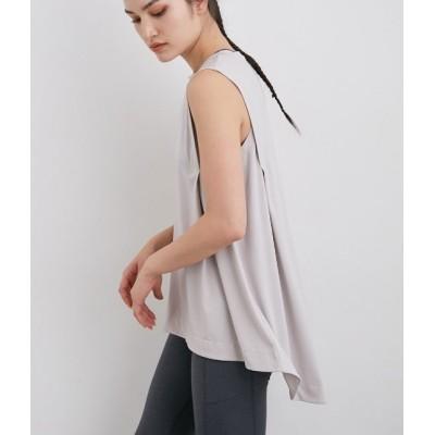 ナージー/UV&吸水速乾 ノースリーブフレアTシャツ/ピンク/F