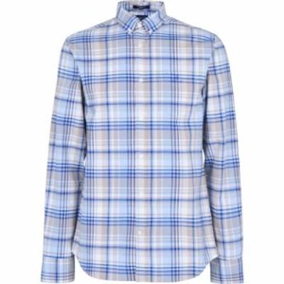 ガント Gant メンズ シャツ ワイシャツ トップス Prep Oxford Plaid Shirt Sand