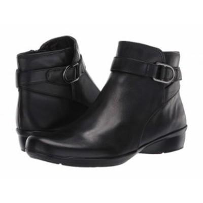 Naturalizer ナチュラライザー レディース 女性用 シューズ 靴 ブーツ アンクル ショートブーツ Colette Black Leather【送料無料】