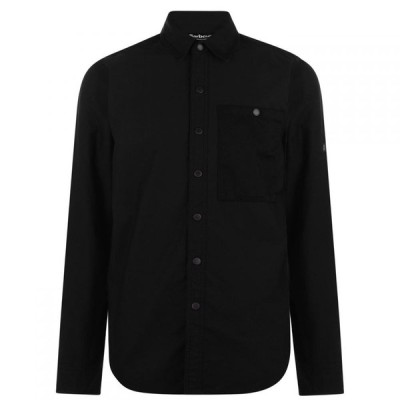 バブアー Barbour International メンズ シャツ オーバーシャツ トップス dual overshirt Black