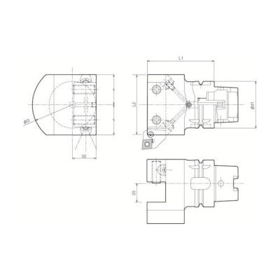 京セラ ツーリング機器 T63H−S2525−90F 1個 (メーカー直送)