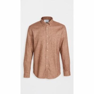 ポーチュギースフランネル Portuguese Flannel メンズ シャツ ネルシャツ トップス Teca Brushed Flannel Button Down Shirt Cinnamon