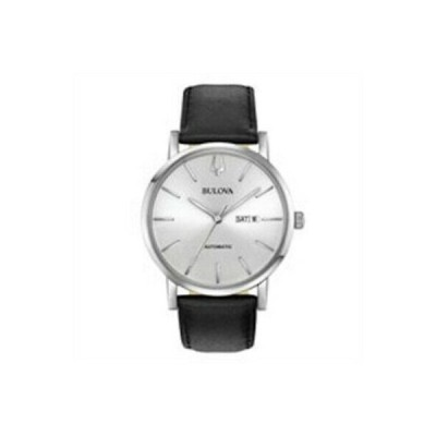 腕時計 ブローバ メンズ Bulova 96C130 Classic Silver Tone Dial Men's Automatic Watch