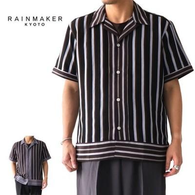 RAINMAKER レインメーカー マルチストライプ オープンカラーシャツ RM191-033 開襟シャツ メンズ
