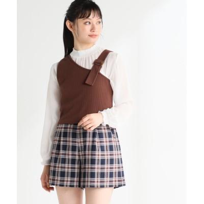 【ハニーズ】 ビスチェアンサンブル レディース ブラウン L Honeys