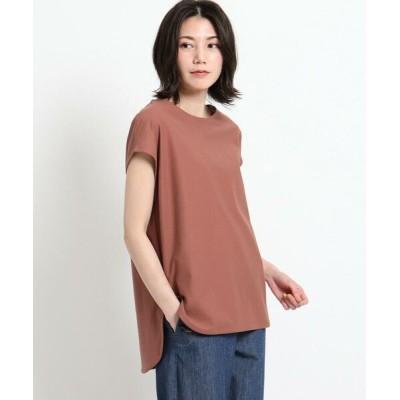 Dessin/デッサン 【XS~L・手洗い可能】シャツテールTシャツ ブラウン(042) 00(XS)