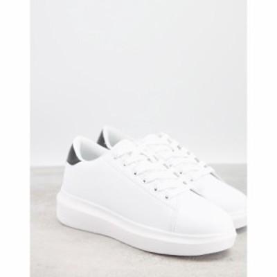 トリュフコレクション Truffle Collection レディース スニーカー シューズ・靴 trainers in white with black tab
