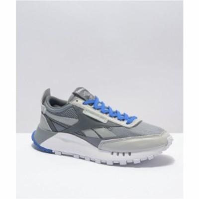リーボック REEBOK INTERNATIONAL LTD. メンズ スニーカー シューズ・靴 Reebok Classic Leather Legacy White. Grey and Navy Shoes Whi
